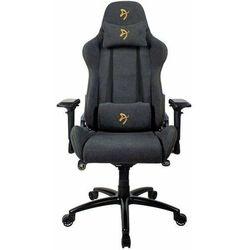 Arozzi fotel gamingowy na kółkach Verona Signature Soft Fabric, czarny/złoty (VERONA-SIG-SFB-GD)