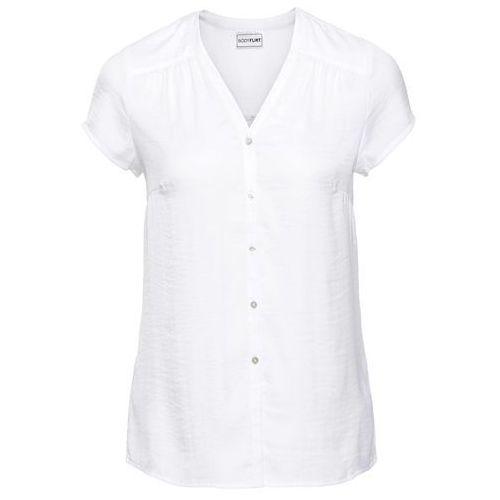 Bluzki, Bluzka, krótki rękaw bonprix biały