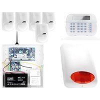 Zestawy alarmowe, ZA12541 Zestaw alarmowy DSC 5x Czujnik ruchu Manipulator LCD Powiadomienie GSM