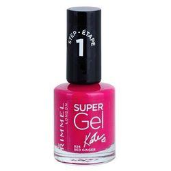Rimmel Super Gel By Kate żelowy lakier do paznokci bez konieczności użycia lampy UV/LED odcień 024 Red Ginger 12 ml