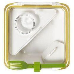 Pudełko na lunch Box Appetit żółto-białe
