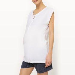 Dwuczęściowa letnia piżama ciążowa i do karmienia piersią