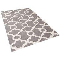 Dywany, Dywan szary - 80x150 cm - nowoczesny - handmade - wełna - ZILE