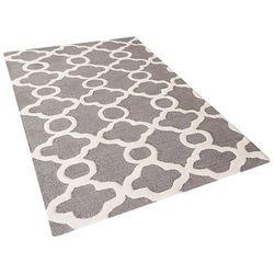 Dywan szary - 80x150 cm - nowoczesny - handmade - wełna - ZILE