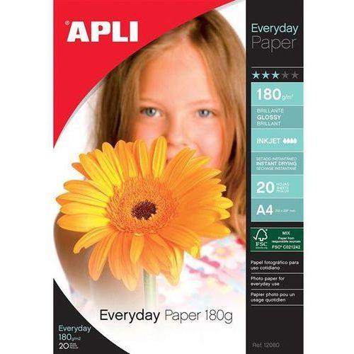 Papiery fotograficzne, Papier fotograficzny APLI Everyday Photo Paper, A4, 180gsm, błyszczący, 20ark.