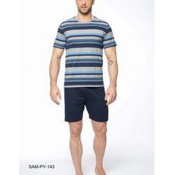 Rossli Bawełniana piżama męska sam-py-143 niebieska