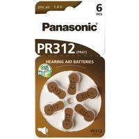 Baterie, Bateria do aparatu słuchowego PANASONIC PR-312/PR-41 6 szt