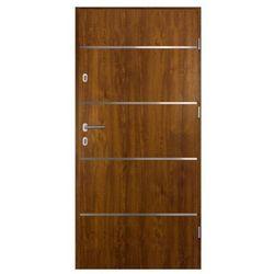 Drzwi zewnętrzne stalowe Elbrouz 90 prawe złoty dąb