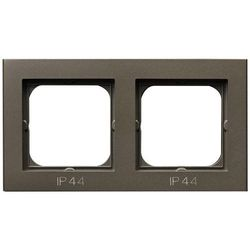 SONATA Ramka podwójna czekoladowy metalik pozioma i pionowa IP44 RH-2R/40 Ospel