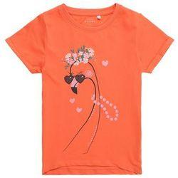 NAME IT Koszulka 'NMFVIXI SS TOP BOX J' pomarańczowy / różowy pudrowy