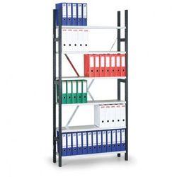 Regał archiwalny Variant, 2190x1240x300 mm, ocynkowane półki, podstawowy