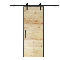 Przesuwne drzwi natynkowe - RUSTIC - Wys. 205cm x Szer. 83cm - Drewno sosnowe