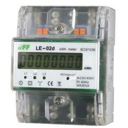 Licznik energii elektrycznej F&F LE-02D trójfazowy 5/80A 230/400V AC MID na szynę DIN