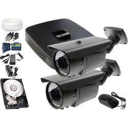 Zestaw do monitoringu: Rejestrator BCS-XVR0401E, 2x Kamera LV-AL60MVT, 1TB, akcesoria