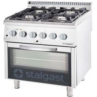 Piece i płyty grzejne gastronomiczne, Kuchnia gazowa 20,5 kW z piekarnikiem elektrycznym 600x400 STALGAST 9715110