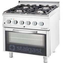 Kuchnia gazowa 20,5 kW z piekarnikiem elektrycznym 600x400 STALGAST 9715110