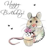 Pozostałe artykuły szkolne, Karnet Swarovski kwadrat CL1221 Urodziny myszka