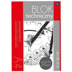 Blok techniczny A4 biały 240g Premium
