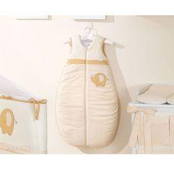 MAMO-TATO Śpiworek do 18 m-ca haftowany Słonik biszkoptowy