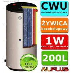 ERMET 200l pionowy dwupłaszczowy bojler do CWU - podgrzewacz wymiennik bezobsługowy - WYSYŁKA GRATIS