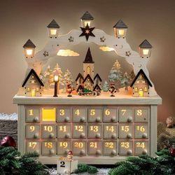 Świecznik łukowy LED Świąteczna wioska z kal. adw.