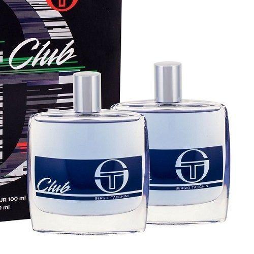 Zestawy zapachowe męskie, Sergio Tacchini Club zestaw Edt 100ml + 100ml Woda po goleniu dla mężczyzn