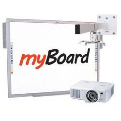 """Zestaw! Tablica myBoard Silver 84""""C + Canon LV-X310ST + uchwyt ścienny do projektora myBoard BW120S + okablowanie 10 m (230V, HDMI) + GRATIS głośniki AMP-32"""