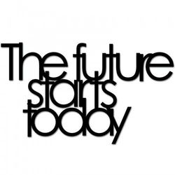 Napis na ścianę THE FUTURE STARTS TODAY czarny TFST1-1