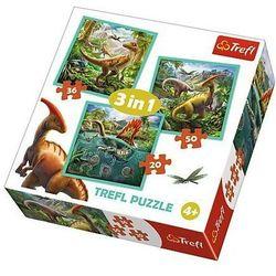 Puzzle 3w1 - Niezwykły świat dinozaurów - DARMOWA DOSTAWA OD 199 ZŁ!!!