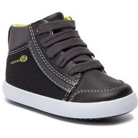 Kozaki dziecięce, Sneakersy GEOX - B Gisli B. C B941NC 054AU C0802 M Black/Lime