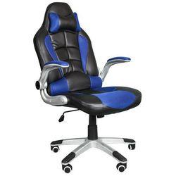 Fotel biurowy GIOSEDIO czarno-niebieski, model BST048