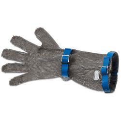 Rękawica metalowa z niebieskimi paskami, długa, rozmiar L | GIESSER, 9590 15