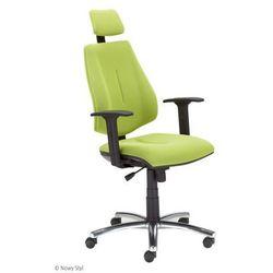 Krzesło biurowe GEM HRU R26S steel 04 chrome z mechanizmem Active-1 Nowy Styl