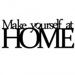 Napis na ścianę MAKE YOURSELF AT HOME czarny MYAH1-1