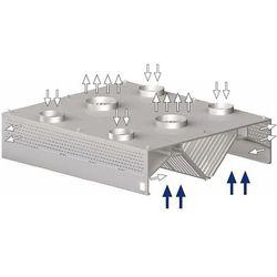 Okap centralny skrzyniowy kompensacyjno-indukcyjny 4800x1800x450 mm   STALGAST, 9821718480