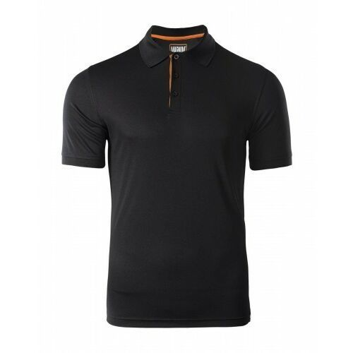 Męskie koszulki polo, MAGNUM Koszulka MĘSKA POLO BLACK Polówka roz. L