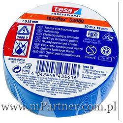 Taśma izolacyjna Tesa PCV 53988 19mm x 20m w folii niebieska