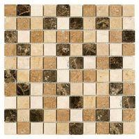 Kamień, DUNIN Travertine mozaika kamienna Travertine Mix 32