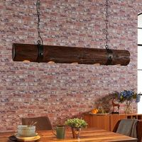 Lampy sufitowe, Ekstrawagancka drewniana lampa wisząca Legno