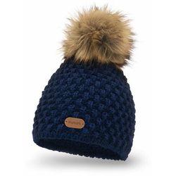 Zimowa czapka damska PaMaMi - Granatowy