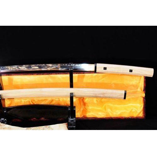 Broń treningowa, MIECZ SAMURAJSKI SHIRASAYA MARU STAL WYSOKOWĘGLOWA 1095, HARTOWANY GLINKĄ R785