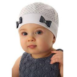 Czapka niemowlęca biała100%bawełna5X34C3 Oferta ważna tylko do 2019-06-21