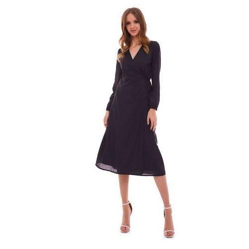 Suknie i sukienki, Sukienka Marion czarna w kropki