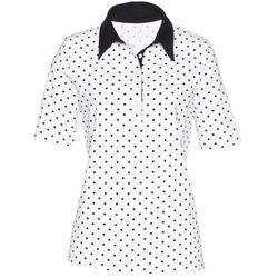 Shirt polo bonprix biało-czarny