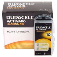 Baterie, 600 x baterie do aparatów słuchowych Duracell ActivAir 10 MF