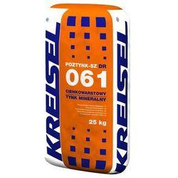 Tynk mineralny cienkowarstwowy POZTYNK-SZ 061 25 kg KREISEL