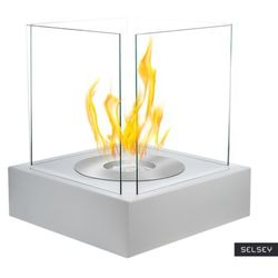SELSEY Biokominek Cube Biały strukturalny