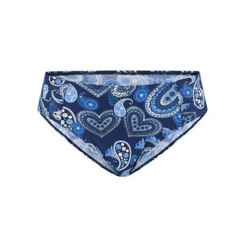 Figi, Figi bikini bonprix niebieski z nadrukiem