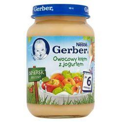 GERBER 190g Deserek Mleczny Owocowy krem z jogurtem po 6 miesiącu