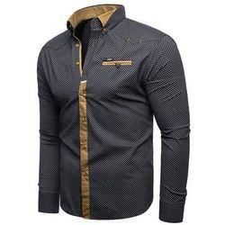Koszula męska długi rękaw rl07 - Stalowa